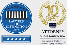 Todd Johns 10 Best Attorneys 2016-2019 and Avvo Client's Choice Award